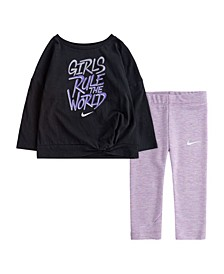Toddler Girls One Luxe T-shirt and Legging Set, 2 Piece