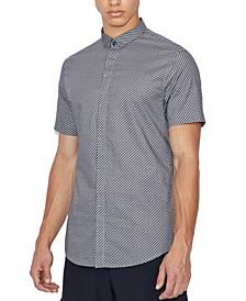 Men's Slim-Fit Zig-Zag Short-Sleeve Shirt