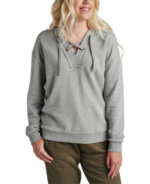 Jeans Women's The Lace-Up Hoodie Top