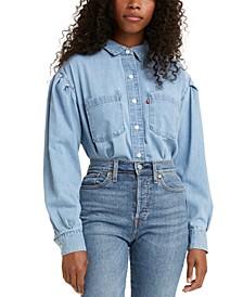 Kinsley Cotton Denim Utility Shirt