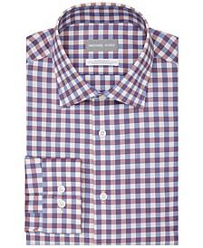 Men's Regular-Fit Performance Stretch Check Dress Shirt