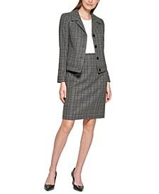 Petite Plaid Blazer & Skirt