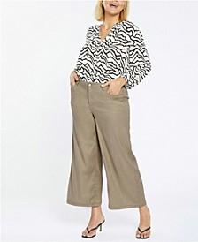 Plus Size Wide Leg Crop Pants