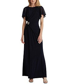 Boatneck Evening Gown