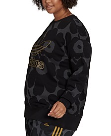Women's Plus Size Cotton Metallic-Logo Sweatshirt