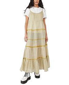 Midnight Dance Printed Cotton Maxi Dress