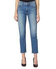 Barbara High-Rise Cropped Straight-Leg Jeans