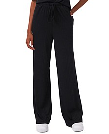 Pull-On Rib-Knit Flare Pants, Created for Macy's