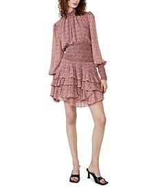 Georgette Soft Floral-Print Dress