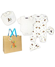 Baby Boys and Girls 5 Piece I Will Love You Forever Layette Gift Set