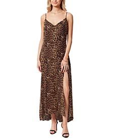 Cotton Leopard-Print Tennyson Slip Dress