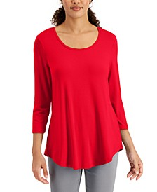 3/4-Sleeve Solid Top, Regular & Petite, Created for Macy's