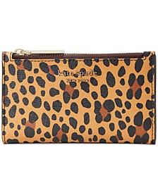 Spencer Leopard Small Slim Bifold Wallet
