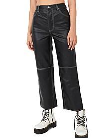 It Factor Faux-Leather Pants