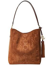 Adley Suede Leather Medium Shoulder Bag