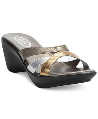 Callisto Jet Wedge Sandals Women's Shoes