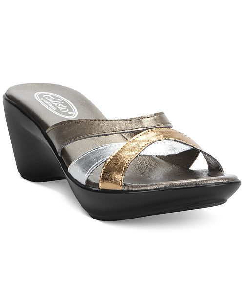 Callisto Jet Wedge Sandals Women's Shoes ul7w9