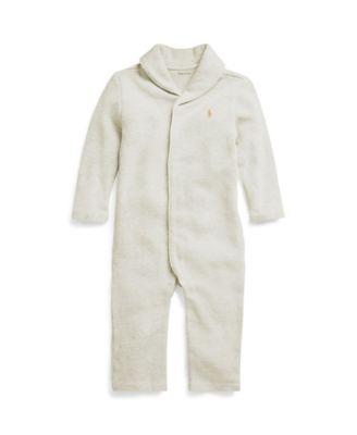 폴로 랄프로렌 Polo Ralph Lauren Baby Boys French-Rib Cotton Coverall,Oatmeal Heather