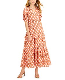Cotton Tiered-Ruffle Dress, Created for Macy's