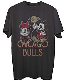 Men's Black Chicago Bulls Disney Mickey Minnie 2020/21 City Edition T-shirt