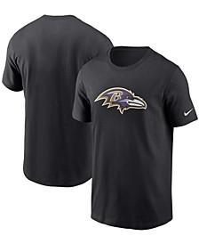 Men's Black Baltimore Ravens Primary Logo T-shirt