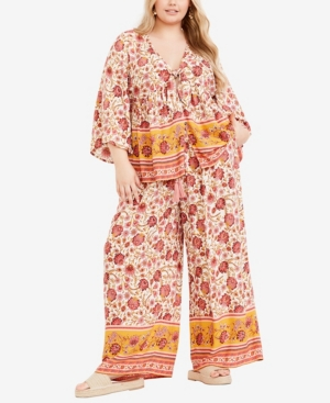 Plus Size Salma Tie Front Top