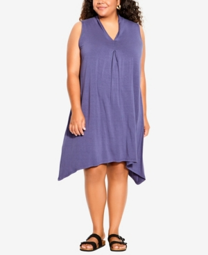 Plus Size Aria Pleat Dress