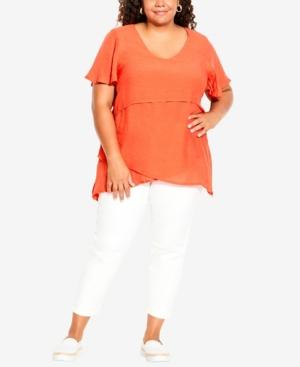 Plus Size Mylah Fashion Layered Tunic Top