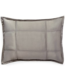 Home Reflection Silver Quilted Standard/Queen Sham