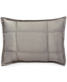 Donna Karan Home Reflection Silver Quilted Standard/Queen Sham