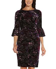 Floral Velvet Sheath Dress