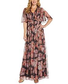 Metallic Printed Maxi Dress