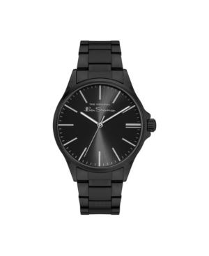 Men's Three Hands Black Stainless Steel Bracelet Watch 41mm