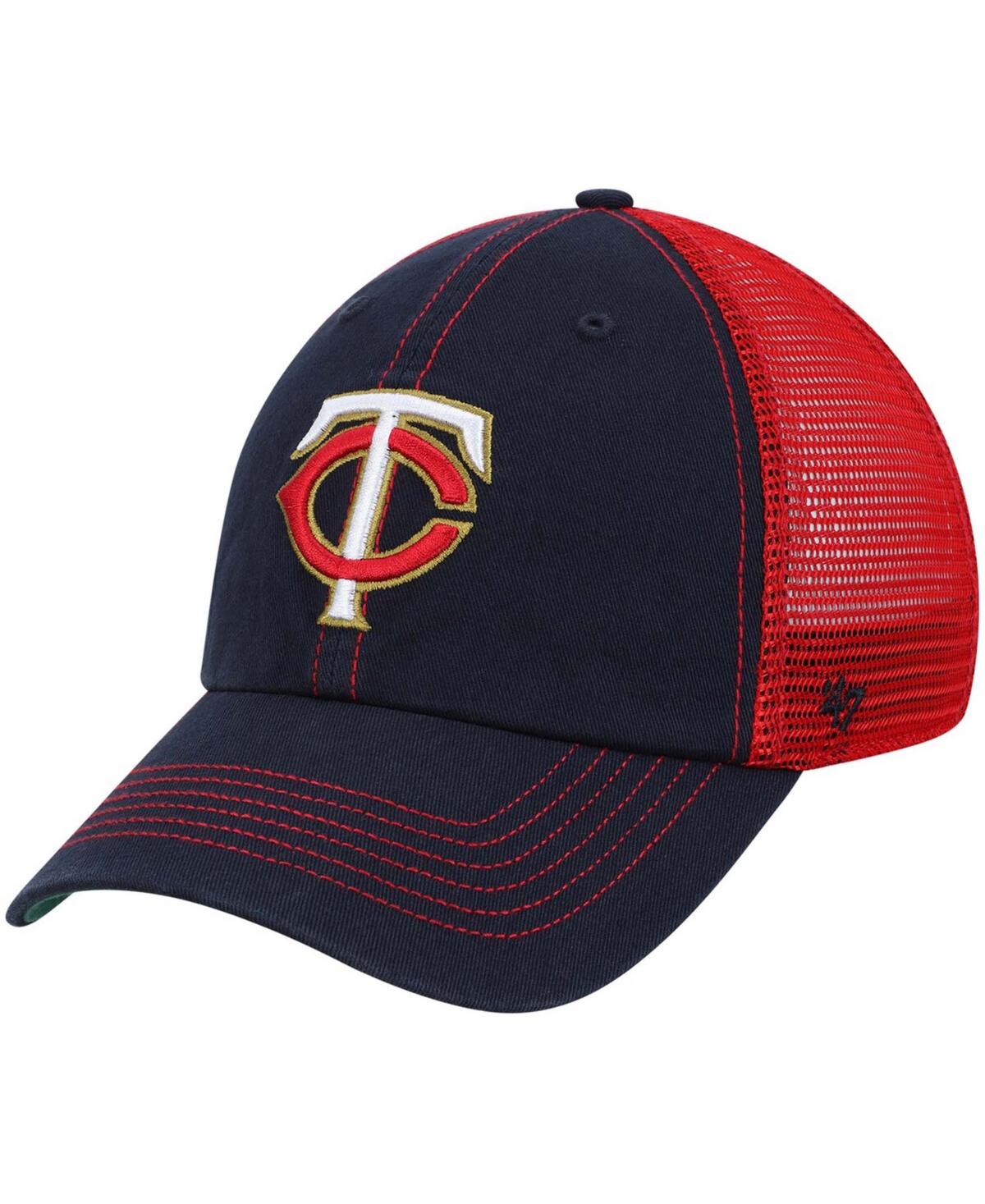 47 Brand Mens Minnesota Twins Trawler Clean Up Trucker Hat
