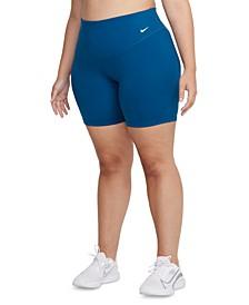 "One Plus Size Mid-Rise 7"" Bike Shorts"