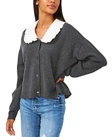Ruffled-Collar Oversized Cardigan Sweater, Created for Macy's