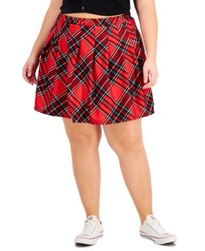 Plus Trendy Plaid Mini Skirt