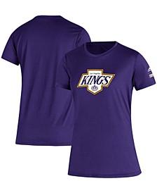 Women's Purple Los Angeles Kings Reverse Retro Creator T-shirt