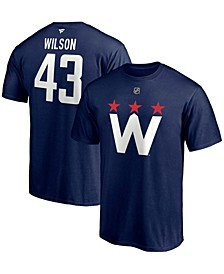 Men's Tom Wilson Navy Washington Capitals 2020/21 Alternate Authentic Stack Name and Number T-shirt
