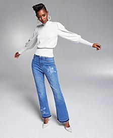 Misa Hylton Volume-Sleeve Turtleneck Sweater, Created for Macy's