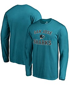 Men's Teal San Jose Sharks Victory Arch Long Sleeve T-shirt