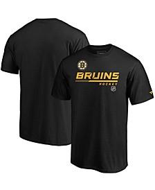 Men's Black Boston Bruins Authentic Pro Core Collection Prime T-shirt