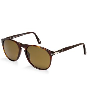 PERSOL Sunglasses, Po9649S (55)P in Tortoise Brown/Brown Polar