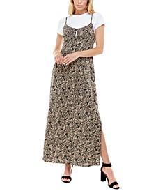 Juniors' 2-Pc. T-Shirt & Maxi Dress