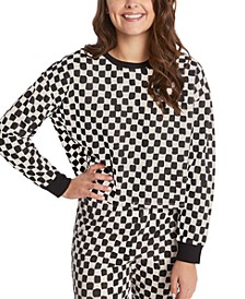 Splendid Margo Checkered Sweatshirt