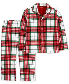 Toddler Boys or Girls Plaid Pajamas Set