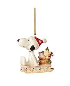 2021 Snoopy Sledding into The Holidays Ornament