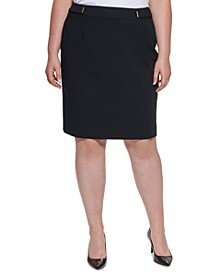 Plus Size Luxe Pencil Skirt
