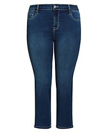 Plus Size Butter Denim Straight Jeans