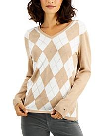 Ivy Argyle V-Neck Sweater